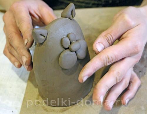 котенок  из глины 13