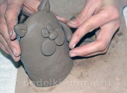 котенок  из глины 14