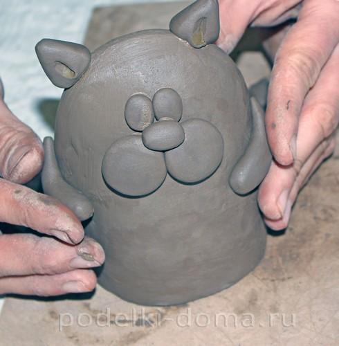 котенок  из глины 15