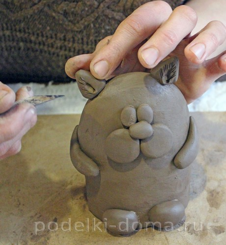 котенок  из глины 17