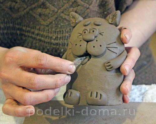 котенок  из глины 24