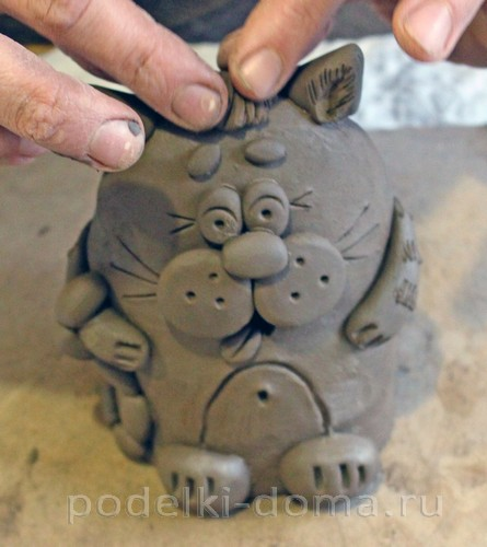 котенок  из глины 27