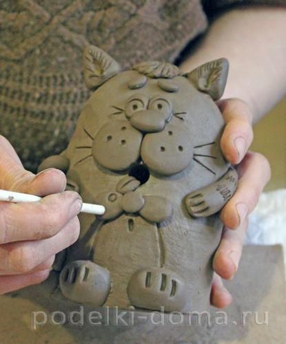 котенок  из глины 28
