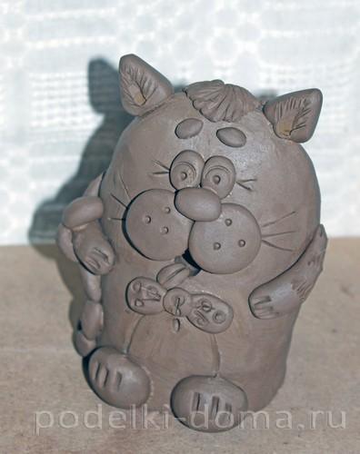 котенок  из глины 31
