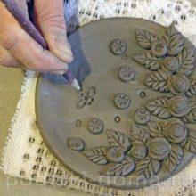 Настенное панно из глины
