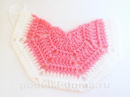 вязаная сумочка розовая 03