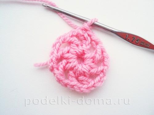 вязаная сумочка розовая 06