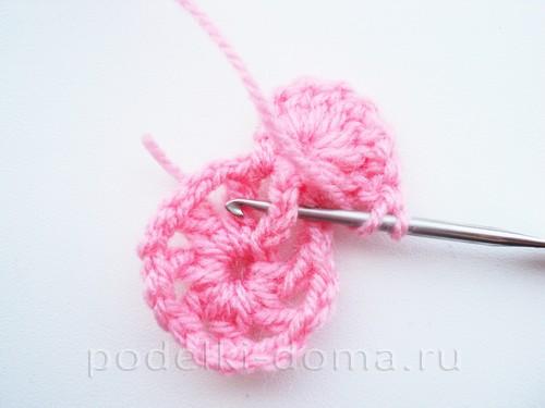 вязаная сумочка розовая 08