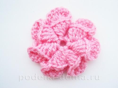вязаная сумочка розовая 11