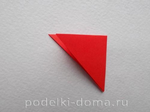 Цветок гвоздики из бумаги (оригами)