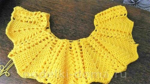 Ажурное летнее платье для девочки (вязание крючком)