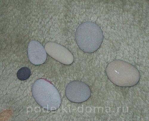 """Панно из камней """"Домики у моря"""""""