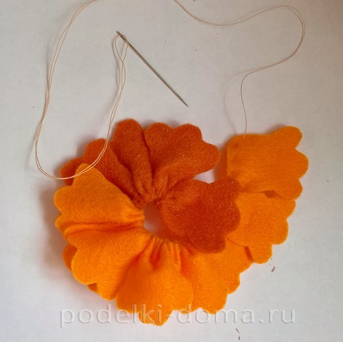 Цветы из фетра