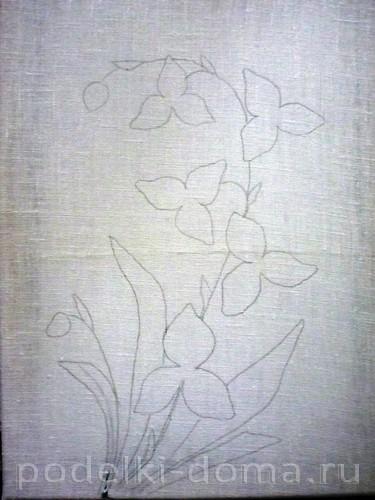 """""""Орхидея"""". Объёмная вышивка"""