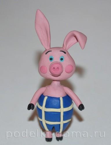 Свинка и поросенок из пластилина