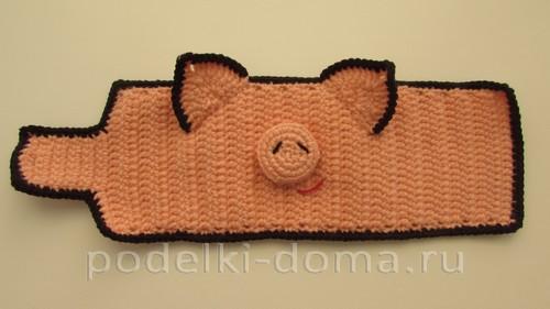 Грелки на кружки в виде свинки и поросенка
