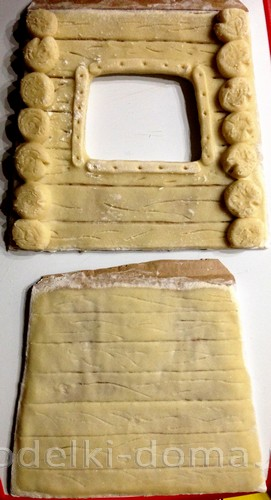 Избушка Бабы Яги из соленого теста