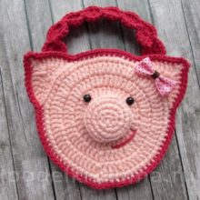 Сумочки со свинками, вязаные крючком
