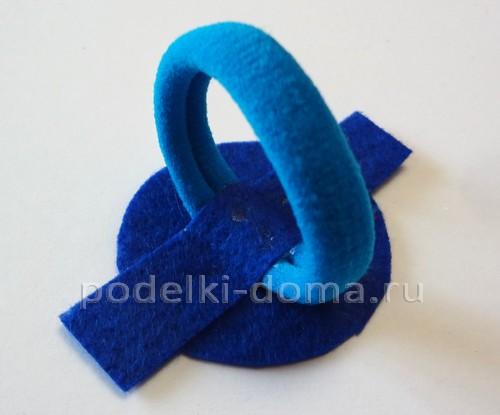Как крепить резинку или зажим заколки
