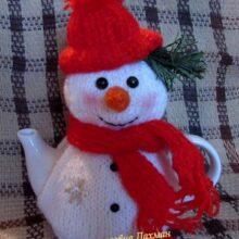Грелка на чайник «Снеговик»