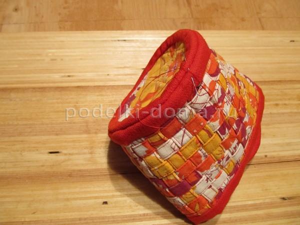 Шьем корзиночку и шкатулку из лоскутков