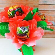 Цветы из чупа-чупсов