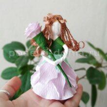 Куколки из гофробумаги