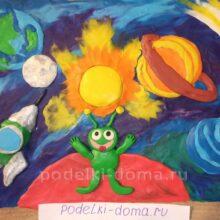 Поделки из пластилина на тему «Космос»