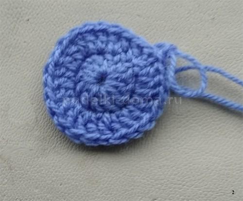Чепчик-капор для новорожденной (вязание крючком)