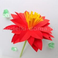 Бумажные цветы — 3 варианта