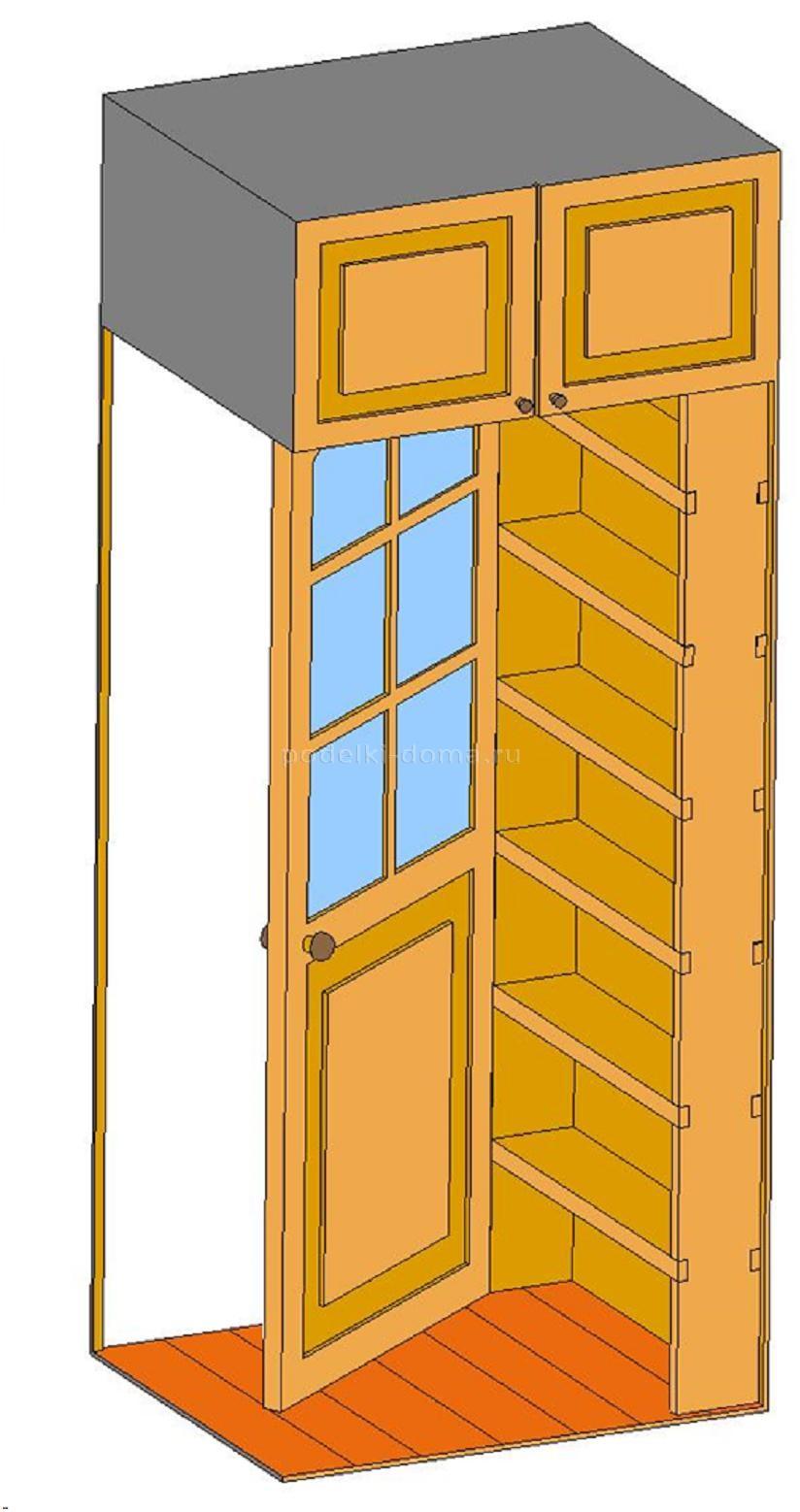 Как сделать шкаф за дверью