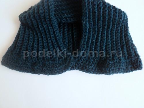 Шапка - капор для ребёнка (вязание крючком)