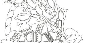 Шаблоны для вырезания (вытынанки) весенние