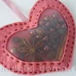 Ароматная валентинка из фетра