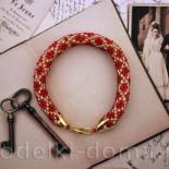 Вязаный браслет из бисера (крючком)
