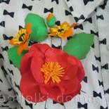 Брошь «Цветы осени» из фоамирана