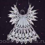 Ажурный ангел из бумаги