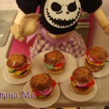 Еда для кукол — чизбургеры