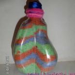 Цветная соль в бутылках для декора интерьера