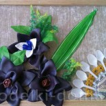 Картина к 8 марта: цветы из кожи