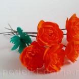 Цветы-огоньки из фоамирана