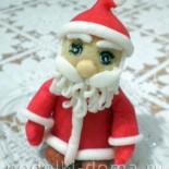Дед Мороз из мастики (украшение для новогоднего торта)