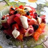 Салат десертный со свёклой и мандаринами