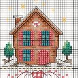 Вышивка крестиком «Домики» (схемы)