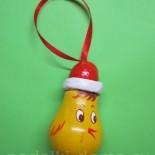 Елочная игрушка из лампочки «Молодой петушок»
