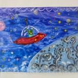 Мастер–класс по Энкаустике «Космический путешественник»