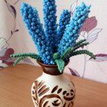 Цветы из бисера, 3 варианта