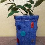 Горшок для цветов (джинсовый)
