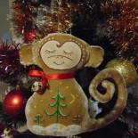 «Символ года — обезьянка» в технике роспись по ткани
