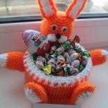 Вазочка для сладостей «Пасхальный зайчик»